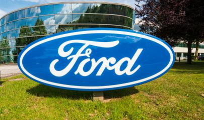 AACHEN, GERMANY APRIL, 2017: Ford logo on a dealership's building. The Ford Motor Company is an American multinational automaker headquartered in Dearborn, Michigan.- Stock Photo or Stock Video of rcfotostock | RC-Photo-Stock
