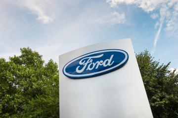 AACHEN, GERMANY APRIL, 2017: Ford logo on a dealership's shield. The Ford Motor Company is an American multinational automaker. It was founded by Henry Ford. - Stock Photo or Stock Video of rcfotostock | RC-Photo-Stock