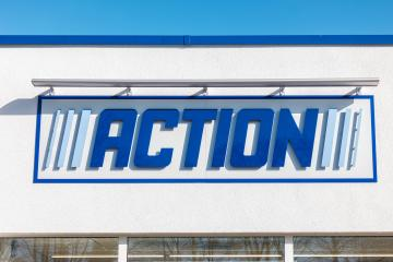 AACHEN, GERMANY FEBRUARY, 2017: ACTION Store Logo. ACTION is a International non-food discounter with over 35,000 employees and more than 850 branches in the Netherlands, Belgium, Germany, France.- Stock Photo or Stock Video of rcfotostock | RC-Photo-Stock