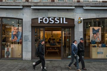 AACHEN, GERMANY FEBRUARY, 2017: Boutique Fossil. Fossil, Inc. is an American designer and manufacturer of clothing and accessories with annual revenues of $ 2 billion.- Stock Photo or Stock Video of rcfotostock | RC-Photo-Stock