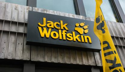 AACHEN, GERMANY FEBRUARY, 2017: Jack Wolfskin store sign. Jack Wolfskin is a major German producer of outdoor wear and equipment headquartered in Idstein. It was founded in 1981.- Stock Photo or Stock Video of rcfotostock | RC-Photo-Stock