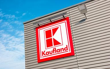 AACHEN, GERMANY FEBRUARY, 2017: Kaufland logo on hypermarket from German chain, part of Schwartz Gruppe. : Stock Photo or Stock Video Download rcfotostock photos, images and assets rcfotostock | RC-Photo-Stock.:
