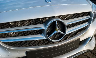 AACHEN, GERMANY FEBRUARY, 2017: Mercedes Benz logo close up. Mercedes-Benz is a German automobile manufacturer. The brand is used for luxury automobiles, buses, coaches and trucks.- Stock Photo or Stock Video of rcfotostock   RC-Photo-Stock