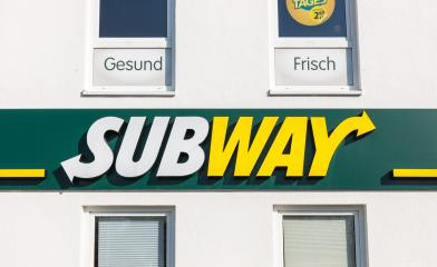 AACHEN, GERMANY FEBRUARY, 2017: Subway fast food restaurant sign. Subway is an American fast food franchise offering sub sandwiches and salads. Subway has over 43,000 restaurants worldwide.- Stock Photo or Stock Video of rcfotostock | RC-Photo-Stock