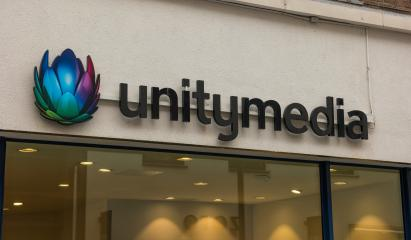 AACHEN, GERMANY FEBRUARY, 2017: Unitymedia shop logo in Aachen. Unitymedia GmbH is a German cable network operator based in Cologne.- Stock Photo or Stock Video of rcfotostock | RC-Photo-Stock