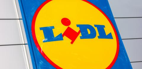 AACHEN, GERMANY JANUARY, 2017: Close up of the LIDL supermarket chain sign. LIDL is a German global discount supermarket chain, based in Neckarsulm, Baden-Wuerttemberg, Germany.- Stock Photo or Stock Video of rcfotostock | RC-Photo-Stock