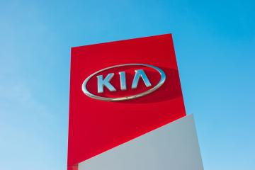 AACHEN, GERMANY JANUARY, 2017: Kia dealership sign against blue sky. Kia is South Korea's second-largest automobile manufacturer.- Stock Photo or Stock Video of rcfotostock | RC-Photo-Stock