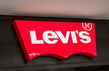 AACHEN, GERMANY JANUARY, 2017: Levi's Store Logo. Founded in 1853, Levi Strauss is an American clothing company known worldwide for its brand of denim jeans.- Stock Photo or Stock Video of rcfotostock   RC-Photo-Stock