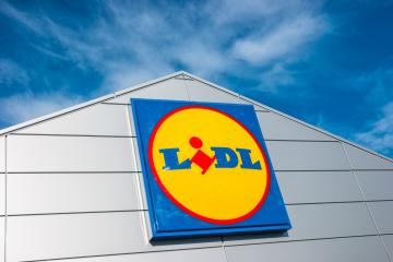 AACHEN, GERMANY JANUARY, 2017: LIDL supermarket chain sign. LIDL is a German global discount supermarket chain, based in Neckarsulm, Baden-Wuerttemberg, Germany.- Stock Photo or Stock Video of rcfotostock | RC-Photo-Stock