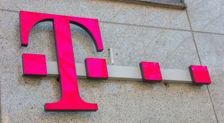 AACHEN, GERMANY JANUARY, 2017: Logo of Deutsche Telekom on a shop. There are around 750 so called