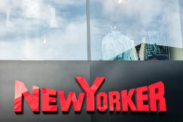 AACHEN, GERMANY JANUARY, 2017: New Yorker logo sign outside a store. This fashion store chain offers modern and stylish outfit for both men and women.- Stock Photo or Stock Video of rcfotostock | RC-Photo-Stock