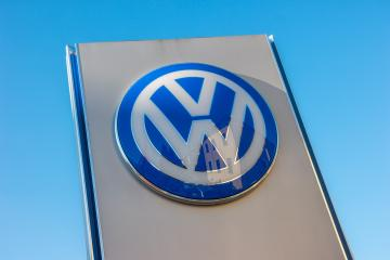 AACHEN, GERMANY JANUARY, 2017: Volkswagen sign against blue sky. Volkswagen is the biggest German automaker and the third largest automaker in the world.- Stock Photo or Stock Video of rcfotostock | RC-Photo-Stock