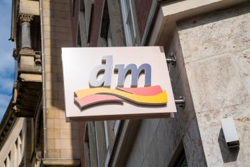 AACHEN, GERMANY JULY 2019: Dm drogeriemarkt store. Headquartered in Karlsruhe, Dm-drogerie markt is a chain of retail drugstore chain for cosmetics, healthcare and household products and food.- Stock Photo or Stock Video of rcfotostock | RC-Photo-Stock