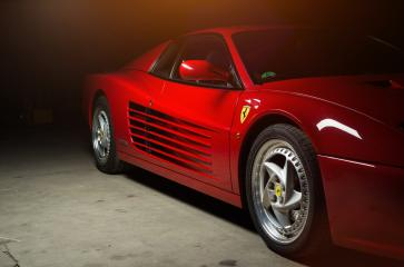 Aachen, Germany, June 14, 2013: Arranged Street shot of an historic Ferrari 512B testarossa Car. - Stock Photo or Stock Video of rcfotostock | RC-Photo-Stock