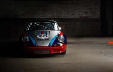 Aachen, Germany, June 14, 2013: Arranged Street shot of an historic Martini racing Porsche 911. - Stock Photo or Stock Video of rcfotostock | RC-Photo-Stock