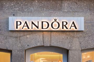 AACHEN, GERMANY MAI 23, 2016: Pandora Store. Pandora is a Danish jewelry manufacturer and retailer founded in 1982 known for its customizable charm bracelets, designer rings, necklaces and watches.- Stock Photo or Stock Video of rcfotostock | RC-Photo-Stock