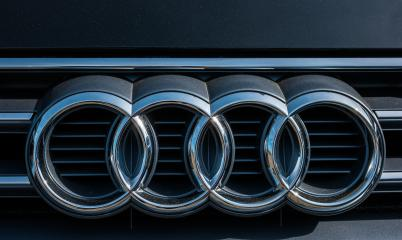 AACHEN, GERMANY MARCH, 2017: Audi emblem on a car grill. Audi is a German automobile manufacturer that designs, engineers, produces, markets and distributes luxury automobiles : Stock Photo or Stock Video Download rcfotostock photos, images and assets rcfotostock | RC-Photo-Stock.:
