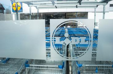 AACHEN, GERMANY MARCH, 2017: LIDL supermarket chain Logo with Shopping carts. LIDL is a German global discount supermarket chain, based in Neckarsulm, Baden-Wuerttemberg, Germany.- Stock Photo or Stock Video of rcfotostock   RC-Photo-Stock