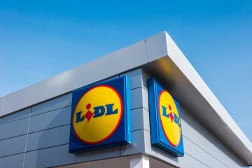 AACHEN, GERMANY MARCH, 2017: LIDL supermarket chain sign. LIDL is a German global discount supermarket chain, based in Neckarsulm, Baden-Wuerttemberg, Germany.- Stock Photo or Stock Video of rcfotostock | RC-Photo-Stock