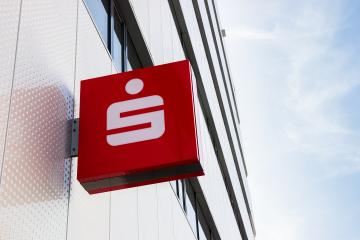 AACHEN, GERMANY MARCH, 2017: Logo of a the German Sparkasse (Savings Bank). Based on OECD studies, the German public banking system had a share of 40% of total banking assets in Germany.- Stock Photo or Stock Video of rcfotostock   RC-Photo-Stock