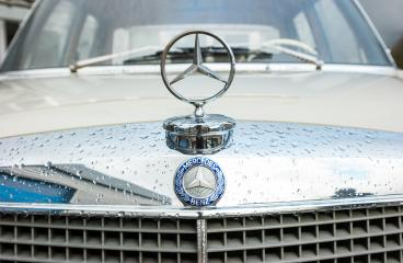 AACHEN, GERMANY MARCH, 2017: Mercedes Benz classic car logo on a car grill. Mercedes-Benz is a German automobile manufacturer. The brand is used for luxury automobiles, buses, coaches and trucks.- Stock Photo or Stock Video of rcfotostock | RC-Photo-Stock