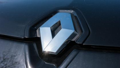AACHEN, GERMANY MARCH, 2017: Renault logo close-up on a black car. Renault S.A. is a French car manufacturer producing cars, vans, buses, trucks, tractors, tanks, autorail vehicles- Stock Photo or Stock Video of rcfotostock | RC-Photo-Stock