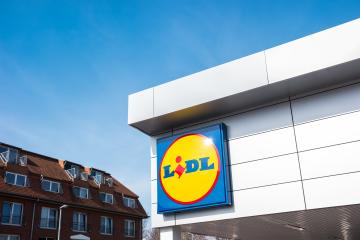 AACHEN, GERMANY MARCH, 2017: The LIDL supermarket sign. LIDL is a German global discount supermarket chain, based in Neckarsulm, Baden-Wuerttemberg, Germany.- Stock Photo or Stock Video of rcfotostock | RC-Photo-Stock