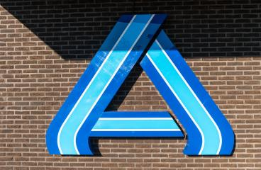 AACHEN, GERMANY OCTOBER, 2017: Aldi sign (north division) on a brick wall. Aldi is a leading global discount supermarket chain with almost 10,000 stores in 18 countries.- Stock Photo or Stock Video of rcfotostock | RC-Photo-Stock