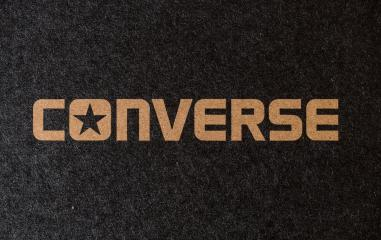 AACHEN, GERMANY OCTOBER, 2017: All Star Converse Sign On Retro Converse Sneakers Box. Founded in 1908 is an American lifestyle company with a production output of shoes and lifestyle fashion.- Stock Photo or Stock Video of rcfotostock | RC-Photo-Stock