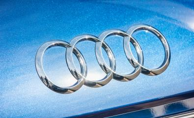 AACHEN, GERMANY OCTOBER, 2017: Audi emblem on a blue car. Audi is a German automobile manufacturer that designs, engineers, produces, markets and distributes luxury automobiles- Stock Photo or Stock Video of rcfotostock | RC-Photo-Stock