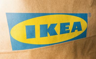 AACHEN, GERMANY OCTOBER, 2017: IKEA Logo on a paper bag. IKEA Founded in Sweden in 1943, Ikea is the world's largest furniture retailer.- Stock Photo or Stock Video of rcfotostock | RC-Photo-Stock