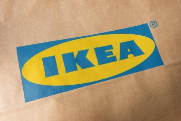 AACHEN, GERMANY OCTOBER, 2017: IKEA Logo on a paper bag. IKEA is the world's largest furniture retailer and sells ready to assemble furniture. Founded in Sweden in 1943.- Stock Photo or Stock Video of rcfotostock | RC-Photo-Stock
