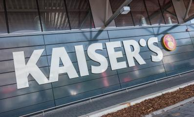 AACHEN, GERMANY OCTOBER, 2017: Kaiser's sign on a supermarket store. Kaiser's is a German supermarket chain owned by the Tengelmann Group but is still in process of sale to the EDEKA Group.- Stock Photo or Stock Video of rcfotostock | RC-Photo-Stock