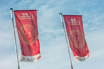 AACHEN, GERMANY OCTOBER, 2017: Lambertz factory flags. The Lambertz Group is a Aachener Printen- and chocolate factory founded by Henry Lambertz 1688 and a manufacturer Christmas cookies. : Stock Photo or Stock Video Download rcfotostock photos, images and assets rcfotostock | RC-Photo-Stock.: