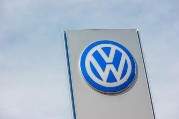 AACHEN, GERMANY OCTOBER, 2017: Volkswagen sign against cloudy sky. Volkswagen is the biggest German automaker and the third largest automaker in the world.- Stock Photo or Stock Video of rcfotostock | RC-Photo-Stock