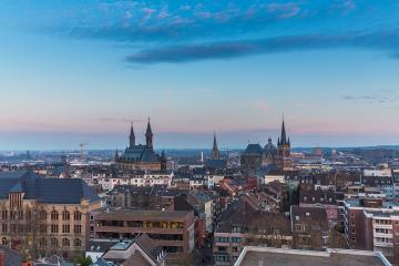 Aachen in germany at sunset : Stock Photo or Stock Video Download rcfotostock photos, images and assets rcfotostock | RC-Photo-Stock.: