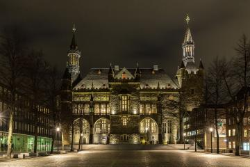 Aachen Rathaus bei Nacht : Stock Photo or Stock Video Download rcfotostock photos, images and assets rcfotostock | RC-Photo-Stock.: