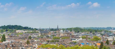 Aachen skyline with cathedral and town hall- Stock Photo or Stock Video of rcfotostock | RC-Photo-Stock