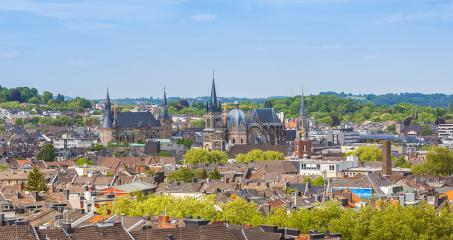 aachen skyline with town hall and cathedral- Stock Photo or Stock Video of rcfotostock | RC-Photo-Stock