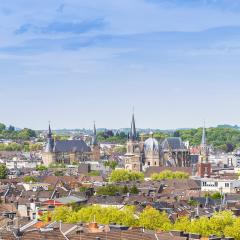 aachen skyline with town hall and cathedral : Stock Photo or Stock Video Download rcfotostock photos, images and assets rcfotostock | RC-Photo-Stock.: