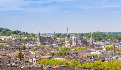 aachen skyline with town hall and cathedral, germany- Stock Photo or Stock Video of rcfotostock | RC-Photo-Stock