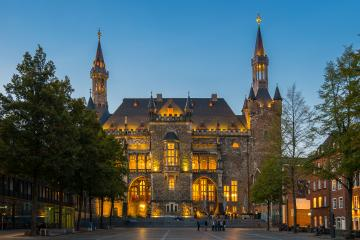 aachen town hall at night - Stock Photo or Stock Video of rcfotostock | RC-Photo-Stock