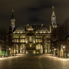 Aachen Town Hall at night- Stock Photo or Stock Video of rcfotostock | RC-Photo-Stock