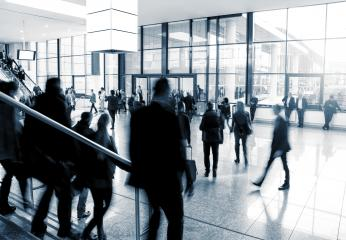 abstact image of people in the lobby on a trade fair- Stock Photo or Stock Video of rcfotostock | RC-Photo-Stock