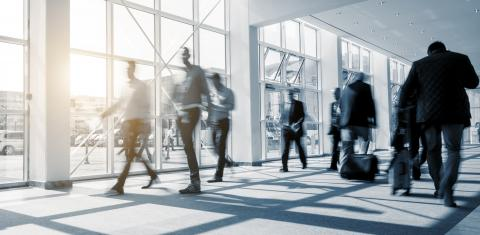 abstakt image of blurred Business people walking in a modern hall- Stock Photo or Stock Video of rcfotostock | RC-Photo-Stock