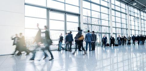 abstakt image of Business people walking in a modern hall- Stock Photo or Stock Video of rcfotostock | RC-Photo-Stock