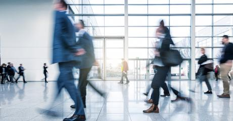 abstakt image of Business people walking in the lobby- Stock Photo or Stock Video of rcfotostock | RC-Photo-Stock