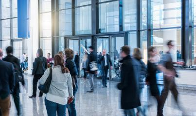 abstakt image of people in the lobby of a modern business center- Stock Photo or Stock Video of rcfotostock | RC-Photo-Stock