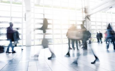 abstakt image of people walking in the corridor of an business center- Stock Photo or Stock Video of rcfotostock | RC-Photo-Stock