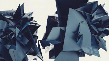 Abstract 3d rendering of chaotic Flying polygonal triangles, futuristic background poster design : Stock Photo or Stock Video Download rcfotostock photos, images and assets rcfotostock | RC-Photo-Stock.: